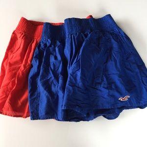 2 Junior  hollister skirt